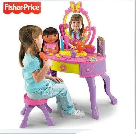 Wholesales 2pcs/lot Fisher Price Dora The Explorer Let's Get Ready Vanity dressing table