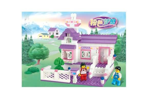FREE SHIPPING wholesale and retails  honey house blocks bricks toy sets kids toys educational block  0156