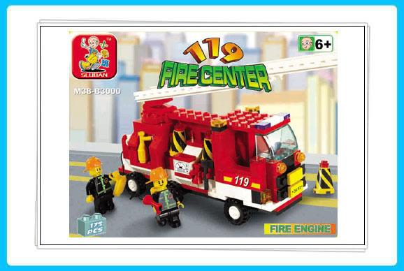 SlubanB0300 Building Block Set 3DPuzzle Model Enlighten Construction Brick Toy Educational Block Toy for Children Free Shipping