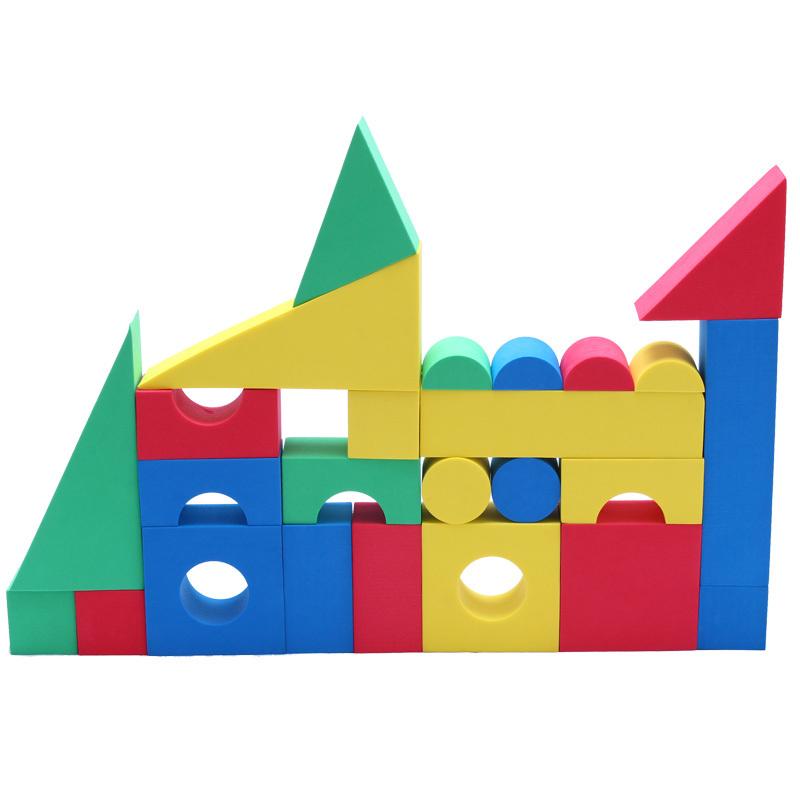 25 eva software building blocks gustless child baby foam blocks toy