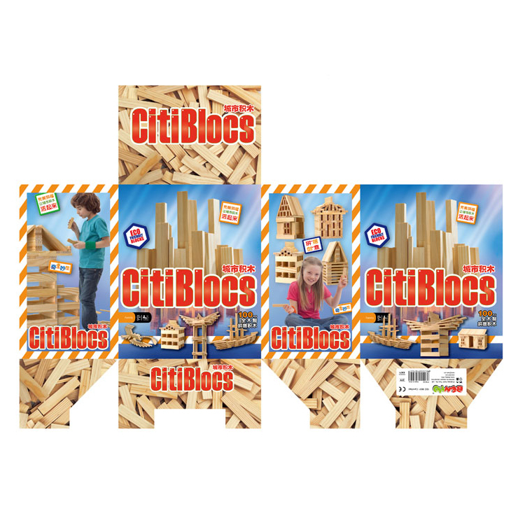 Puzzle toy 100 city blocks primaries