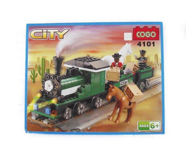 Train toy:COGO Building Blocks City Train 4101(Thomas)