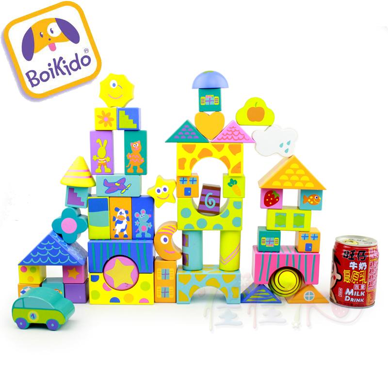 hot sale block Boikido big multicolour 50  wool wooden toy 3 - 4 - 5 - 6 - 7