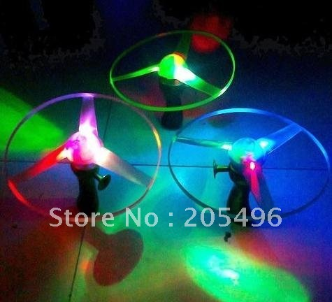 2012 New products Plastic ultimate frisbee disc, bracing wire rc ufo, led RGB light Flying toys for children free shipping