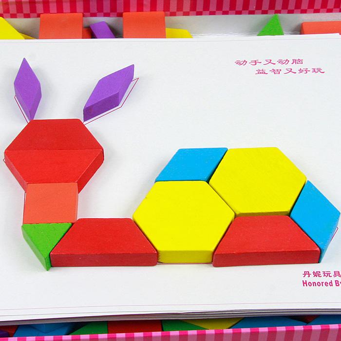 动物七巧板 拼图 图案