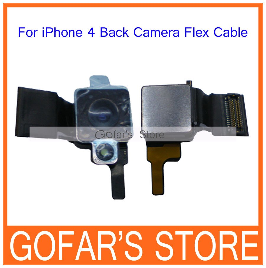 For iPhone 4 4G Back Rear Camera Flex Cable,10pcs/Lot,High Quality,Free Shipping