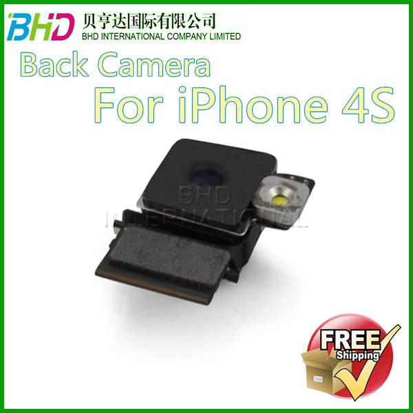 Original  Camera for iPhone 4S Back Camera Replacement Part Free Shipping