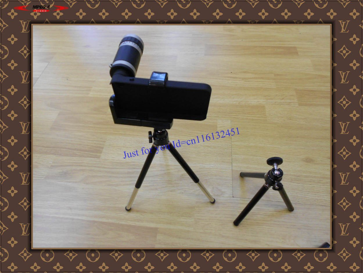 Wholesale free shipping 5pc/lot  8X Zoom black Camera lens for original iphone 4 mobile phone zoom lens