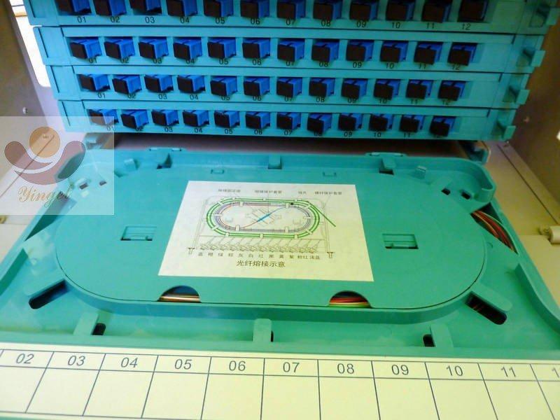 48 портов odf волоконно-оптический патч-панель с косичкой кабель.