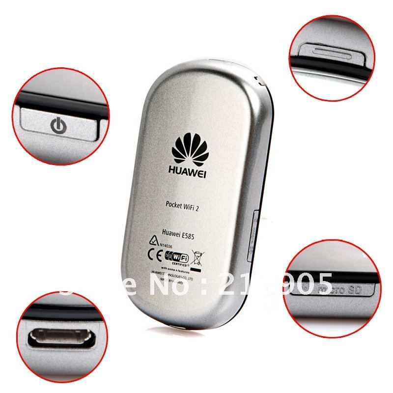 HK/SG post free Shipping Specially for AU Unlocked 3G Huawei E585 Pocket WiFi Modem Wireless Router Mobile