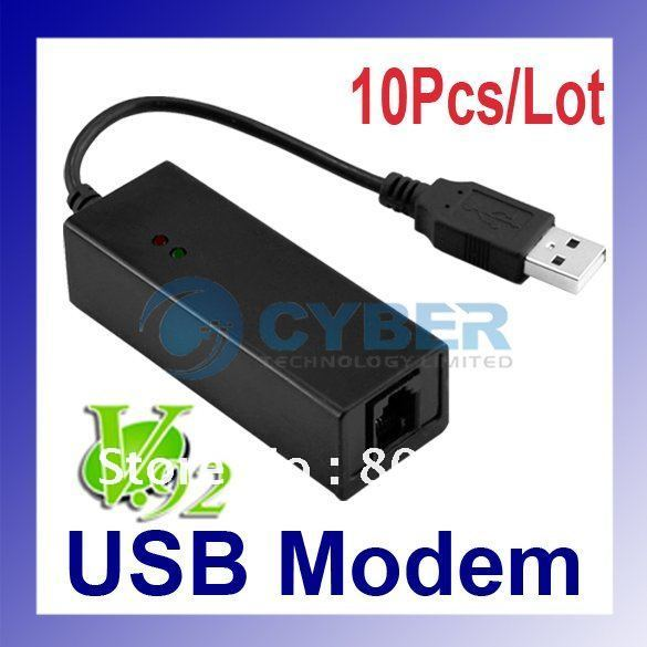 Wholesale 10Pcs/Lot USB Fax Modem 56K Dial up Voice,Data External V.90,V.92 For Windows 98 SE / ME / 2000 / XP Free Shipping