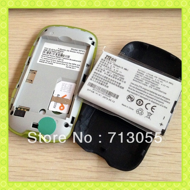 OLED Display 1500mAH Battery 21.6M Download Speed Support UMTS 2100Mhz GSM Quad Band ZTE 3G Router MF61