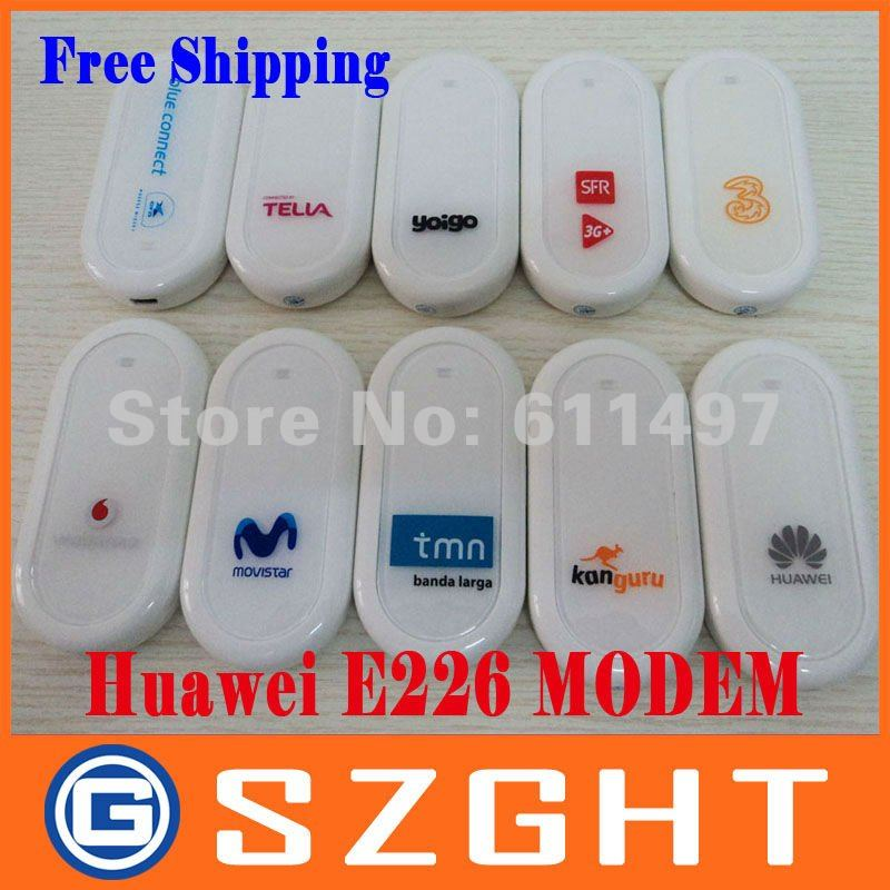 Freeshipping unlocked wireless huawei E226 3G usb modem, PK huawei E220