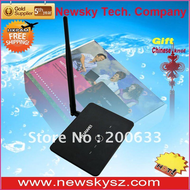 7.2 Mbps HSDPA Original Unlocked 4 Lan Port External Antenna Port HUAWEI B970 3G Wireless Router Hongkong Post Free