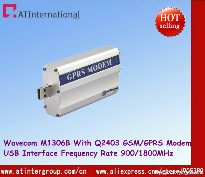Free Shipping ! Wavecom M1306B with Q2403 Module USB Dual-band 900/1800MHz