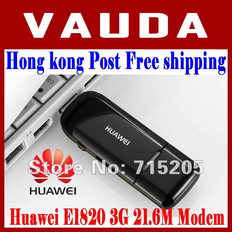 HK Post free shipping  Huawei E1820 3G USB Wireless Modem 21.6M Support CE And External Antenna