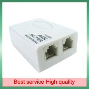 10 Pieces/A Lot Phone Telephone ADSL Modem RJ11 Line Splitter Filter + Free Shipping