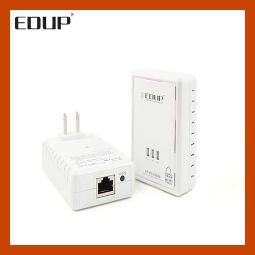 EDUP EP-PLC5506 200Mbps Starterkit PowerLine Network Electric Power Adapter Link Ethernet Homeplug