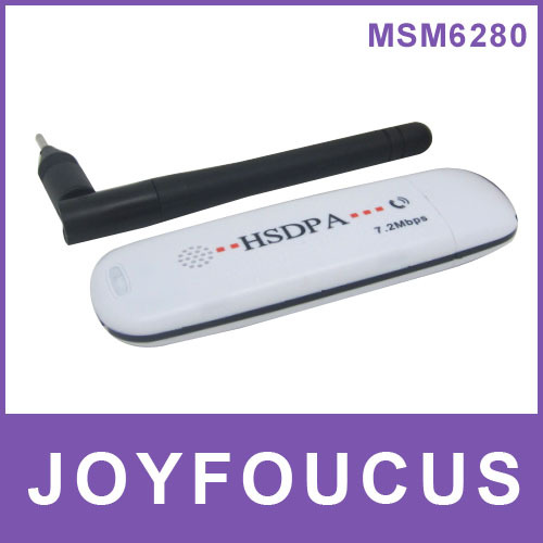 HK post Freeshipping 3g dongle low price wholesale ,voice call hsdpa  modem 3g 7.2mbps wcdma with Qualcomm MSM6280 Band antenna