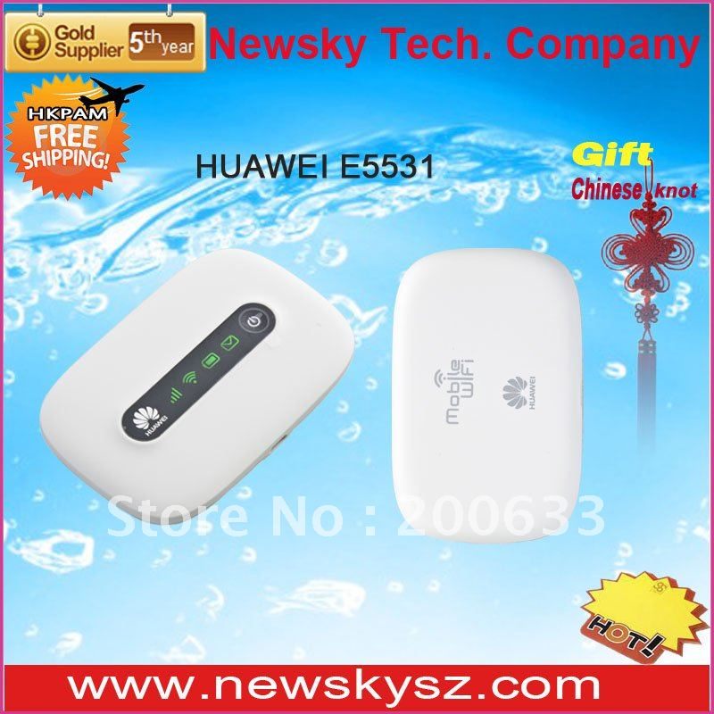 Revolutionary Design LED Display 1500mAH Battery 21.6Mbps HSPA+ HUAWEI Portable 3G Wifi Router E5331 Hongkong Post Free