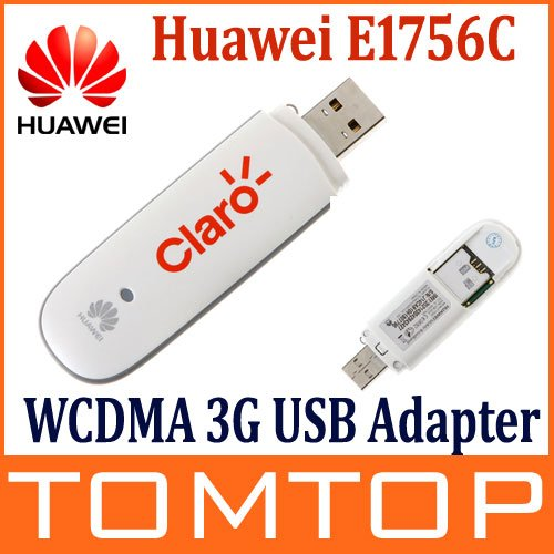 White Color Huawei E1756C WCDMA 3G Wireless Network Card  USB Modem Adapter for PC Tablet SIM  HSDPA EDGE Android System Support