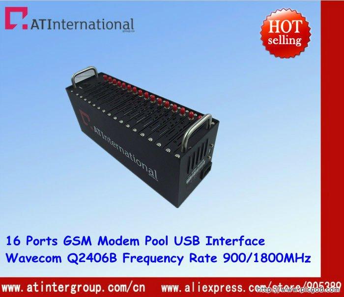 Original Wavecom Q2406B USB 16 Ports Modem Pool Dual-band Frequency