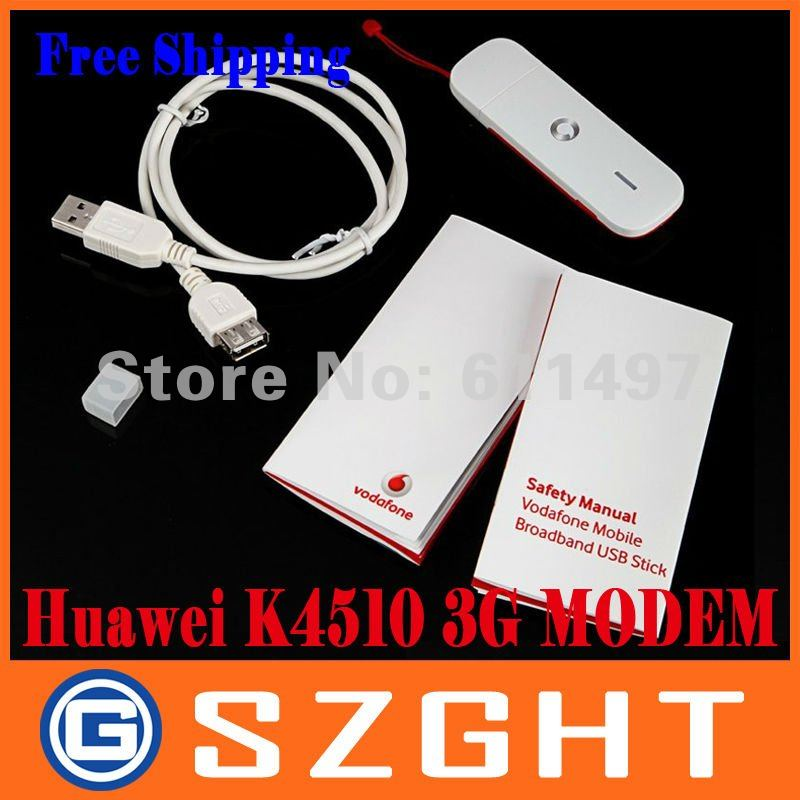28.8M Unlocked Huawei K4510 3G Mobile Broadband Wireless Modem USB Stick Dongle with Card Slot Free Shipping+Drop Shipping