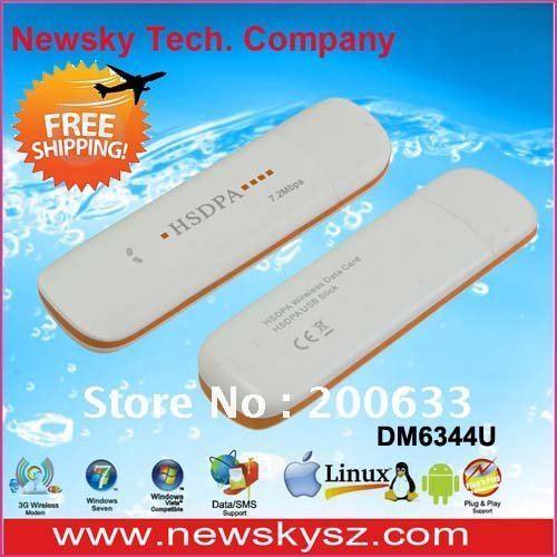 3G USB HSDPA Modem 7.2Mbps High Speed Support  USSD & PC Voice & TF Card DM6344U