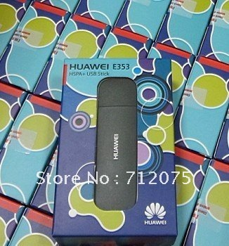 Free shipping Huawei E353 3G wireless Modem 21.6Mbps wireless unlocked 3G band(900/2100Mhz)