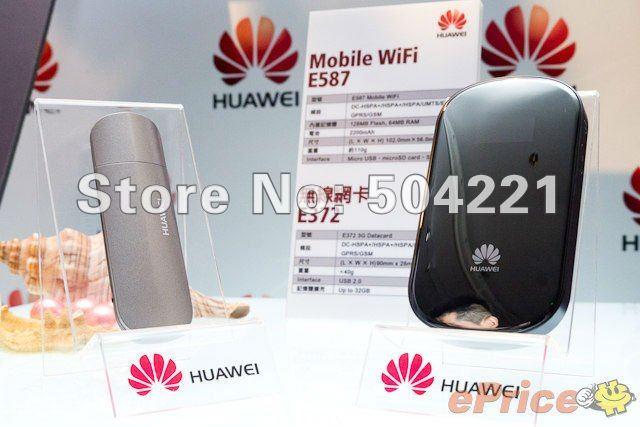 Drop shipping /DHL Huawei E587 OLED Mobiles DC-HSPA+ UMTS WLAN MiFi Hotspot mit 43,2mbit/s und TS-9 Antennenanschluss (schwarz)