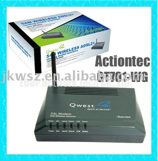 Actiontec GT701-WG 54M ADSL Modem Wifi Gateway Wireless Router Free Shipping