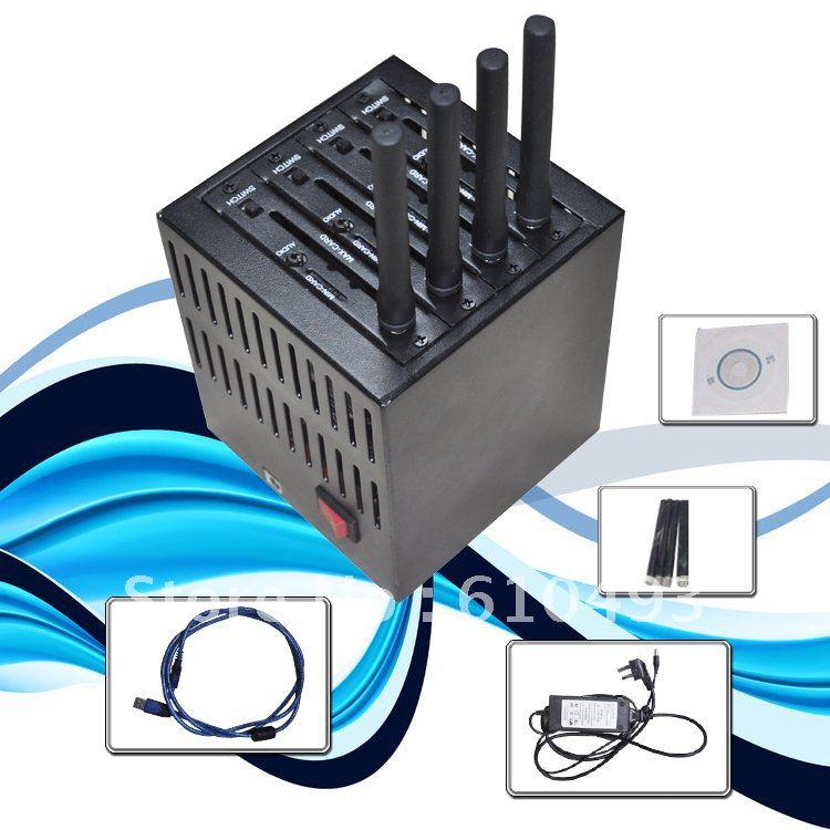 Wavecom Q24plus 4 port modem pool,bulk sms,quad band,imei changeable,free shipping!