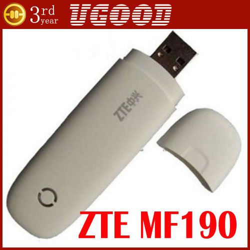 New ZTE MF190 Unlocked 3G GSM 7.2Mbps USB Mobile Broadband Modem