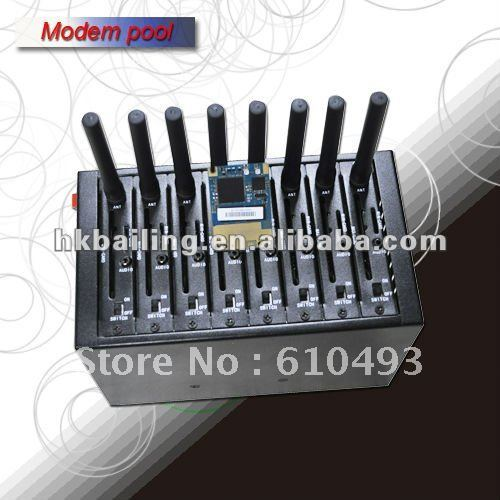New arrival 3G 8 port modem pool,3G modem pool for high speed bulk sms sending