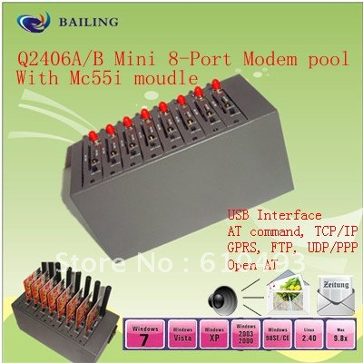 8 port modem pool Q2406 USB 2.0 interface