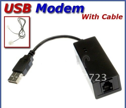 USB 56K External Dial Up Voice Fax Data V.90 V.92 Modem Dual for Window 7 XP Vista 64bit