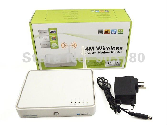 2012 new 4 Port 54Mbps 2.4 GHZ 802.11 b/g Wireless ADSL2+ Modem Router, WIFI, Full speed, auto-sense ADSL 2+ routing, bridging