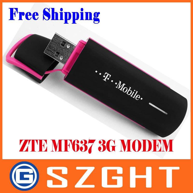 ZTE MF637 Unlocked 3G Usb Wireless 7.2M Modem Support CE Retail Free Shipping