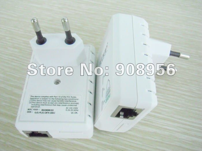 2012 Original EDUP PLC5511 200Mbps Powerline Power Line Network Adapter Starter Kit Plug Ethernet Adapter Homeplug x2 free ship