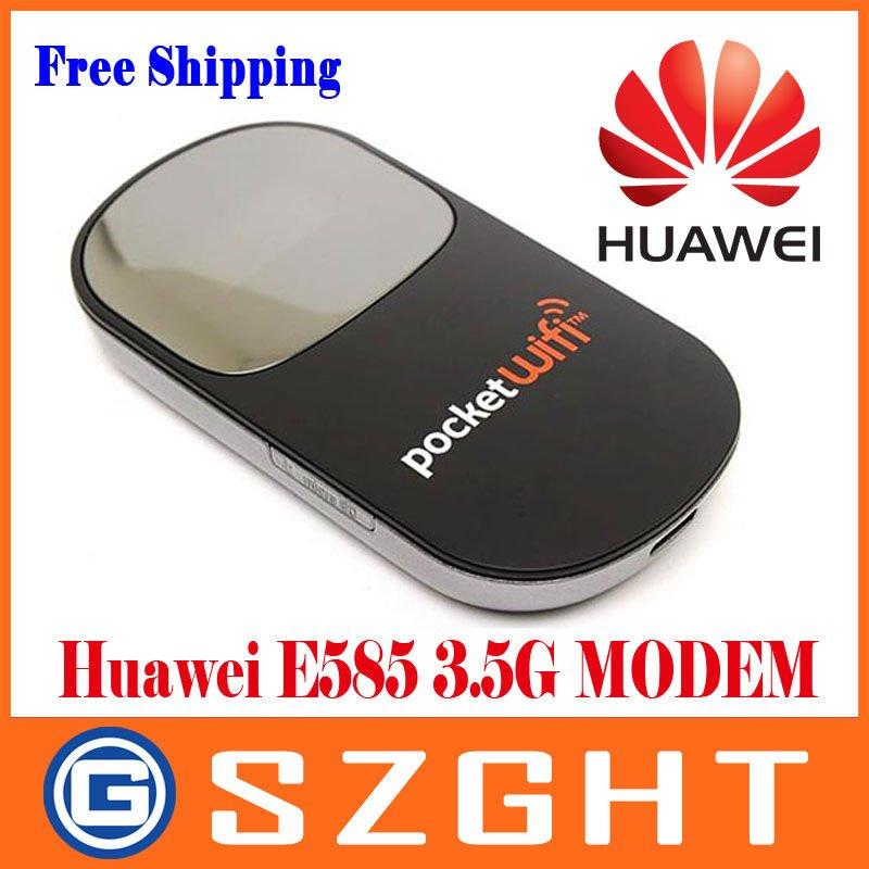Huawei E585 3.5G HSUPA/HSDPA Mobile Hotspot Modem MiFi Router OLED Screen Free Shipping
