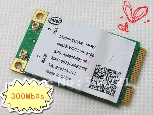 Intel 512AN MMW 5100 for HP 480985-001 Wireless Lan Wlan Wifi Wi fi Card Mini PCI-E 802.11 ABGN