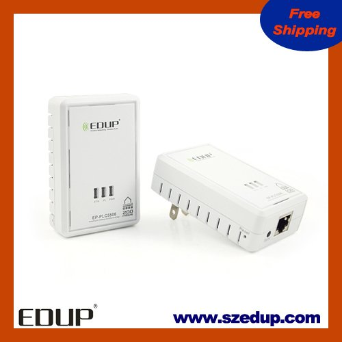 Free Shipping for EDUP EP-PLC5506 200Mbps Starterkit PowerLine Network Electric Power Adapter Link Ethernet Homeplug