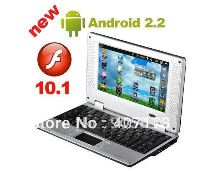 "CHEAPEST NETBOOK ! LATEST 7"" Mini 8650 Netbook Laptop Notebook WIFI android 2.2 OS 256MB RAM 4GB HD free shipping"