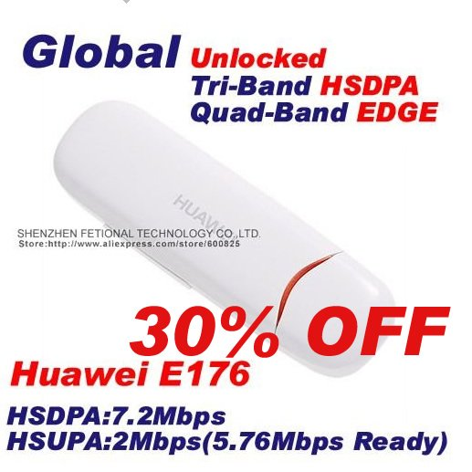 Tri-Band HSDPA Quad-Band HSUPA Modem Huawei E176 modem