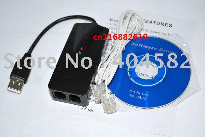 USB 2.0 Fax Modem with External 56K V.92/ V.90 for 2000/XP/Vista/Linux/Windows7(2 RJ11) + Free shipping