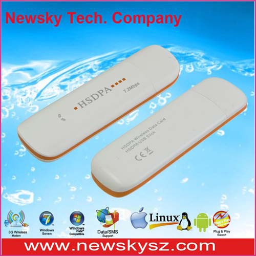 7.2Mbps High Speed Qualcomm MSM6280 3G Modem Wifi DM6344U Support USSD & PC Voice & TF Card