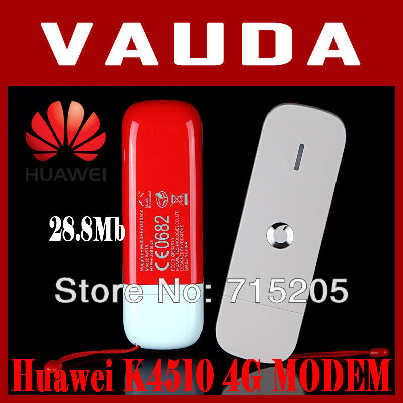 Wholesale 10piece EMS/DHL Free shipping Unlock 28.8Mbps USB Modem Huawei K4510 Vodafone