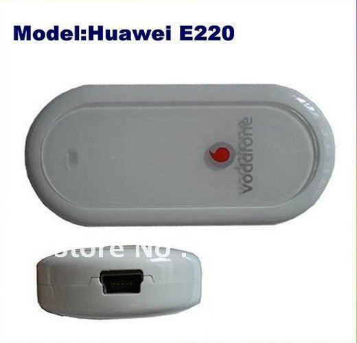 Freeshipping Cheap UNLOCKED HUAWEI E220 3G HSDPA USB MODEM 7.2Mbps wireless network card ,support google android tablet PC gift+