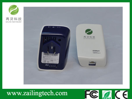 Zaling 85m Power Line homeplug Adapter