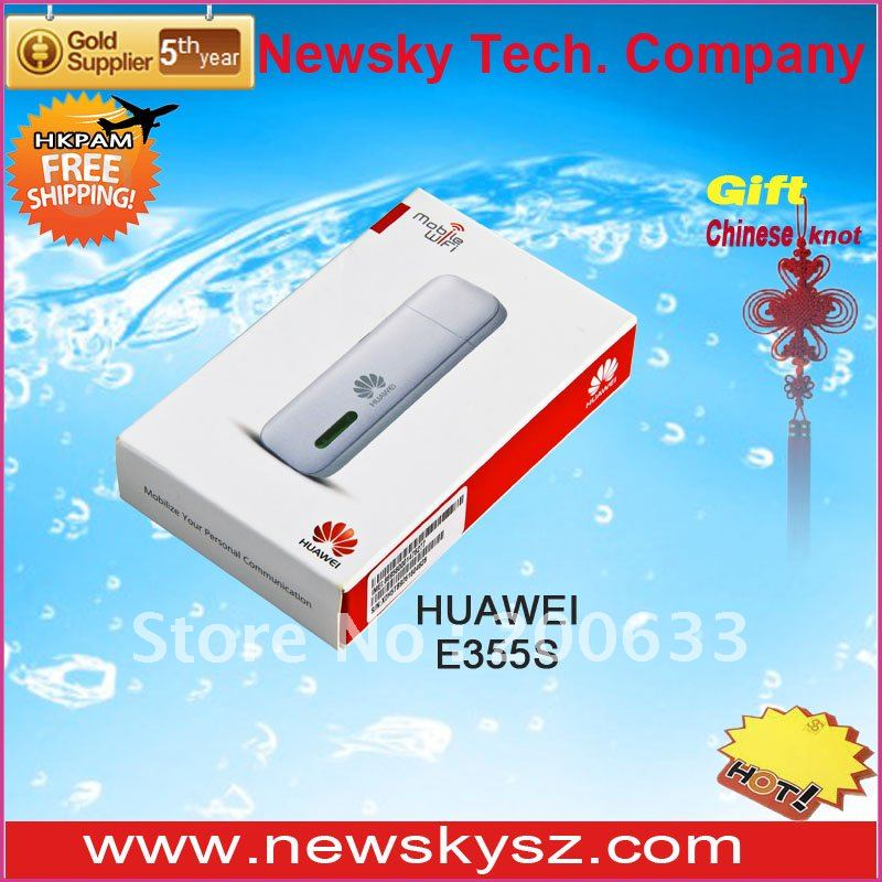 Attractive Appearance Ultrathin HSPA+ 21.6Mbps HUAWEI SIM Card Wireless Modem E355 Support 5 Wireless Devices Simultaneously